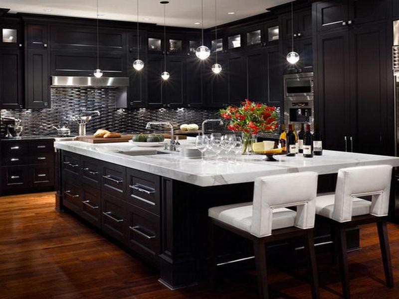 Kitchen Design Black Cabinet Installation