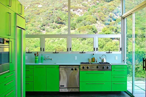 kitchen-design-bright-green