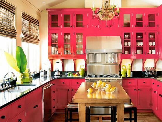 kitchen-design-bright-pink-cabinets