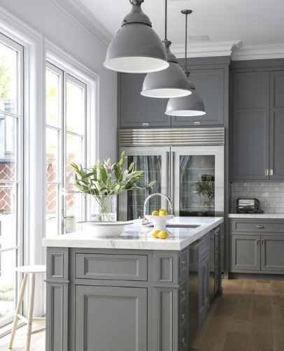 Top Kitchen Design Trends For Kitchen Cabinet Installation - Grey kitchens 2016