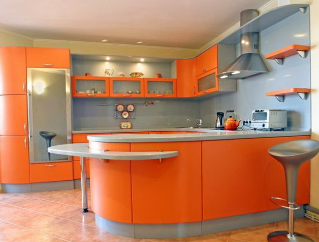 kitchen-design-orange-and-blue-grey