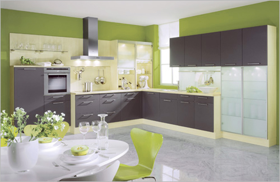 Kitchen Design Soft Chartreuse