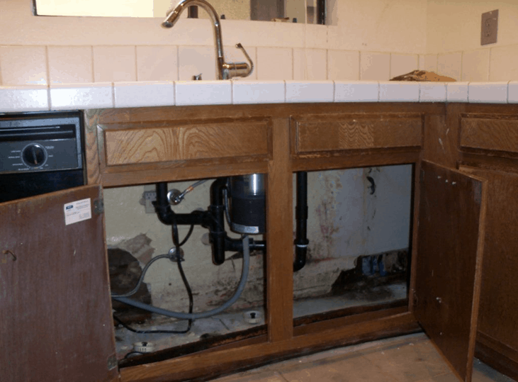 Water Damaged Cabinets